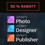 👩🎨 Affinity Photo / Designer / Publisher für nur 38,99€ (Alternative zu Adobe) + 30% auf alle Brushes, Bücher uvm.