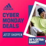 adidas Cyber Woche: Bis zu 50% Rabatt auf über 9.000 Artikel + nur heute 20% Extra-Gutschein