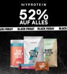 *KNALLER* Myprotein: 52% +5% Extra-Rabatt auf ALLES - Protein Riegel, Flapjacks, Whey, FlavDrops, Peanutbutter, Nahrungsergänzung, Klamotten uvm.
