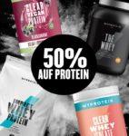 MyProtein: 50% Rabatt auf Protein