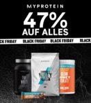 *KNALLER* Myprotein: 47% Rabatt auf ALLES - Protein Riegel, Flapjacks, Whey, FlavDrops, Peanutbutter, Nahrungsergänzung, Klamotten uvm.