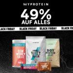 *KNALLER* Myprotein: 49% Rabatt auf ALLES + kostenloser Versand ab 20€ - Protein Riegel, Flapjacks, Whey, FlavDrops, Peanutbutter, Nahrungsergänzung, Klamotten uvm.