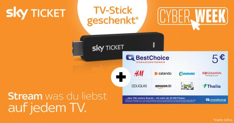 skyticket cyberweek bonus deal uebersicht