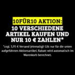 Dealclub: 10 Artikel für 10 Euro (zzgl. einmalig 3,95 Euro Versand)