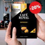 ☕️ Café Royal Big Packs: 36 Kaffee Kapseln mit 20% Rabatt (= 0,18€ pro Kapsel)