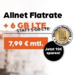 🔥 6GB LTE Vodafone Allnet-Flat für 7,99€/Monat + 50€ RNP-Bonus + 9,99€ Anschlusspreis - allmobil powered by otelo