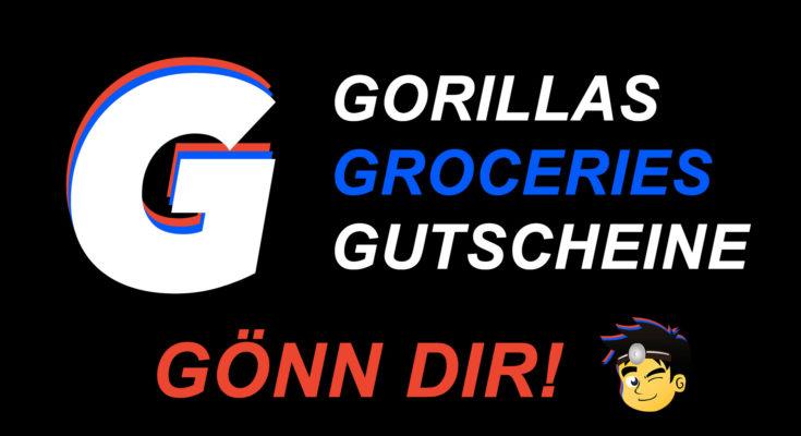 Gorillas Logo mit Gutschein und Gönnung