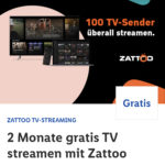 📺 GRATIS Zattoo Ultimate:  2 Monate kostenlos testen (über Lidl Plus)