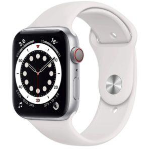 Apple_Watch_Series_6_GPS__Cellular_44_mm_Aluminiumgehaeuse_Silber_Sportarmband_Weiss