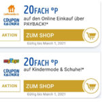 Payback: 20fach Punkte (10%) bei Lieferando & mytoys