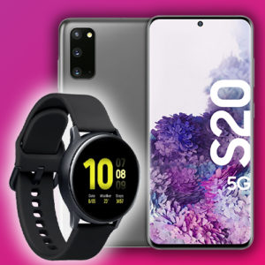 Samsung_Galaxy_S20_5G_128GB_Cosmic_Gray_Samsung_Galaxy_Watch_Active2_44mm_Alu_SM-R820_Schwarz_Congstar_Allnet_Flat_M_More4More_Aktion_Thumb