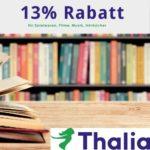 📚 Thalia: 13% Gutschein - Spielwaren, Filme, Software, Hörbücher u.v.m.