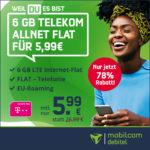 *TARIFKRACHER!* 🤯💥 Telekom 6GB LTE Allnet für 5,99€/Monat + 19,99€ AG (md Telekom green LTE)