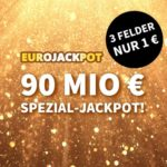 *Spezialjackpot* 90 Mio € Eurojackpot: 1x Gratis-Tipp // 3 Tipps für 1€ (statt 6€) - Lottohelden-Neukunden