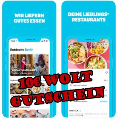 Die Wolt App liefert gutes Essen und einen 10€ Gutschein