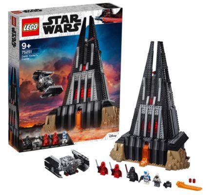 LEGO 75251 Star Wars Darth Vaders Festung Bauset mit 5 Minifiguren Geschenk fuer Sammler