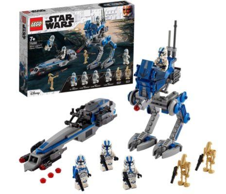 LEGO 75280 Star Wars Clone Troopers der 501. Legion Bauset mit Kampfdroiden und at RT Walker