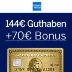 Amex Gold Card 12 Monate kostenfrei + 70€ Bonus