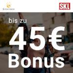 💰 SKL-Los mit bis zu 45€ Bonus - Täglich 1 Million Euro und mehr zu gewinnen