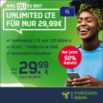 *Mtl. kündbar!* 📱 Unlimited LTE Allnet für 29,99€/Monat (md o2 Free Unlimited Max mit 225 Mbit/s)