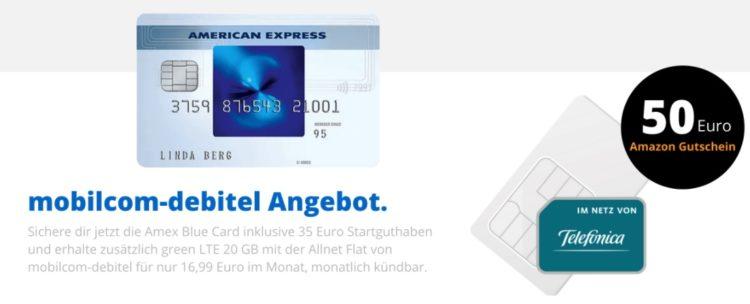 mobilcom debitel und American Express