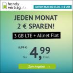 ⭐️ Mtl. kündbar: 3GB LTE Allnet für mtl. 4,99€ / 10GB für 9,99€ ⏰ max. bis zum 03.08., 11 Uhr - handyvertrag.de im o2-Netz