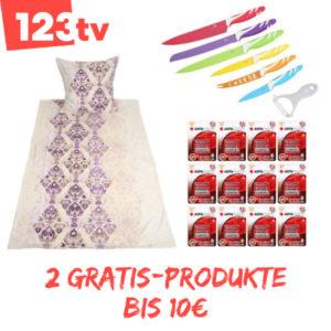 2x 10€ Produkt bei 1-2-3.tv geschenkt