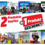 2 Produkte kaufen + 1 Produkt geschenkt (PS4, PS5, Xbox One und Xbox Series Games)