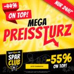 endet💥📉 SportSpar Mega Preissturz: 44% Extra-Rabatt auf ausgewählte Artikel (55% für Sparclub-Mitglieder)