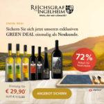 🍷 7 Flaschen Wein + Käsebrett mit Messer & Gabel für 34,85€