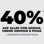 mysportswear: 40% auf adidas, Puma & Under Armour