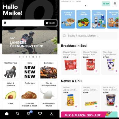 Gorillas Flink Apps