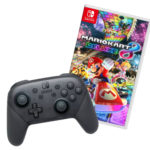 Switch Controller + Mario Kart 8
