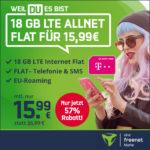 *Telekom-Netz* 📱 18GB LTE Allnet für 15,99€/Monat + 19,99€ AG ⏰ max. bis 26.10., 20 Uhr (md Telekom green LTE)
