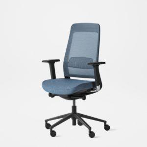 fully desk chair black blue v1