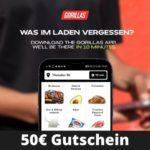 🛵 🛍 Gorillas: 50€ Gutschein für die ersten Lieferungen(=5x 10€ mit je 20€ MBW)