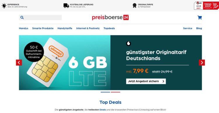 Preisboerse24_Startseite