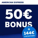 American Express Gold Card: 144€ Startguthaben + 50€ Bonus
