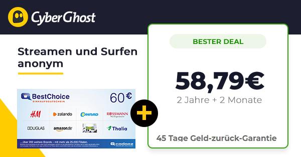 cyberghost-60-bonus-deal-uebersicht