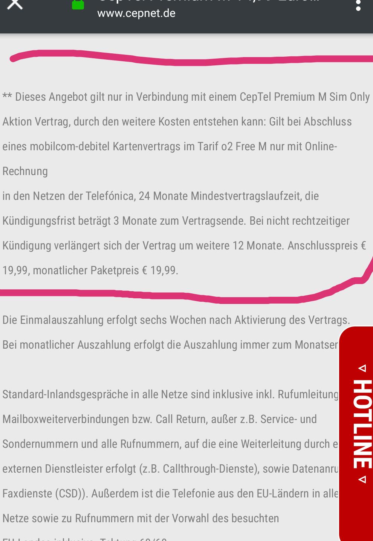 O2 Free M Mit Alles Flat Und 10gb Lte Für 1499monat