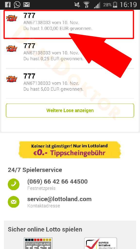 Lottoland Auszahlung