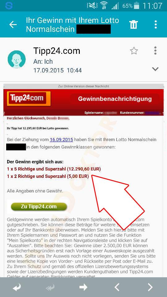 Tipp24 Gewinn Nicht Ausgezahlt