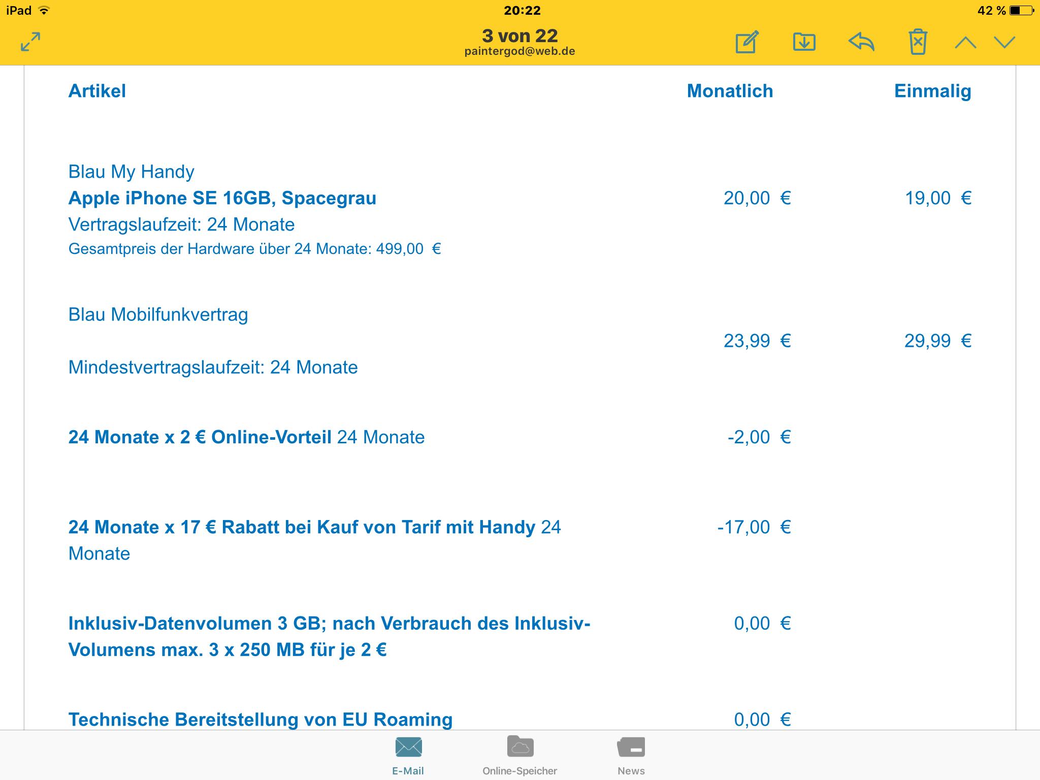 *Nur heute* Simyo Cyber Sale: 197€ Amazon.de-Gutschein