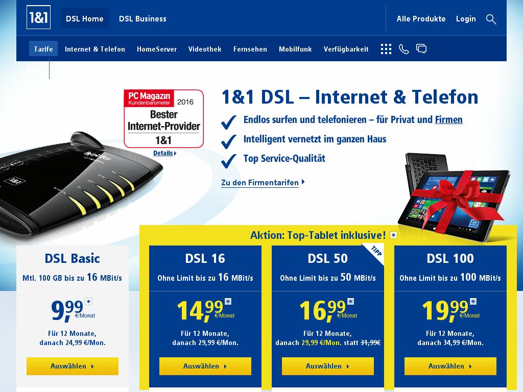 1&1 Internet & DSL