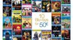 10 Blu-rays für 50€ bei Amazon