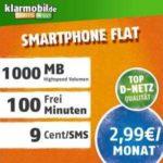*Knaller* 1GB Internet-Flat + 100 Freiminuten für 2,99€/Monat + 0€ Anschlussgebühr (Vodafone-Netz, Klarmobil) *nur bis Montag, 7.00 Uhr*