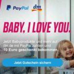 10€ Gutschein für DM via Paypal