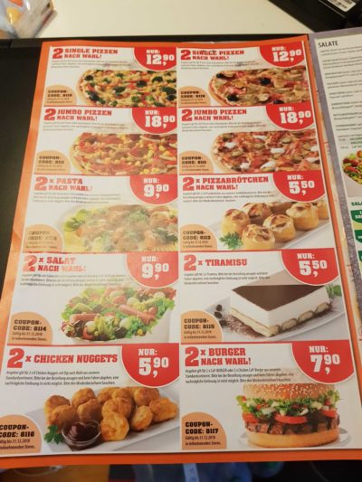 call a pizza coupon code eingeben
