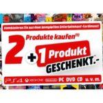 2+1 auf Gaming, Film und Musik (MediaMarkt)