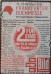 Buchemesse in Frankfurt: 2 for 1 Ticket Gutschein